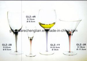 Red Wine Glass with Tearful Stem (GLZ-2B) pictures & photos