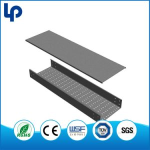 China Steel Wire Mesh Cable Tray Perforated Solid Pre Galvanized ...