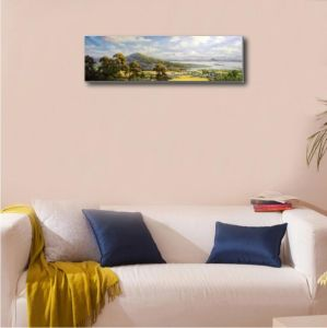 Oil Painting of Village Landscape pictures & photos