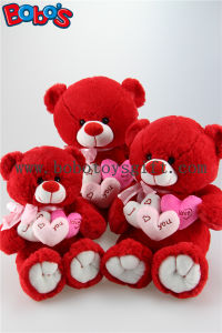 Wholesale Price Plush Stuffed Big Tummy Teddy Bear Toy with Ribbon in Beige and Brown Color pictures & photos