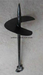 Hot DIP Galvanized Ground Anchor, Power Coated Ground Anchor