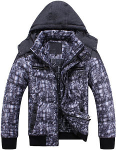 Men New Fashion Printed Winter Jacket Clothes pictures & photos