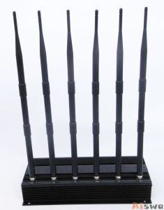 High Power 6 Antenna GPS, WiFi, VHF, UHF and Cell Phone Jammer Cts-Ju6