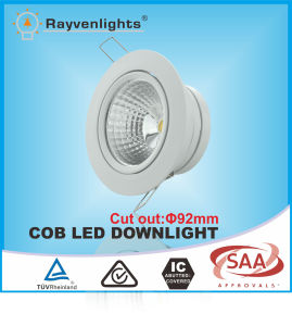 10W Round LED Dimmable Downlight Housing with SAA &CE Approval
