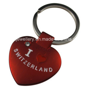 Metal Key Chain with Switzerland Logo