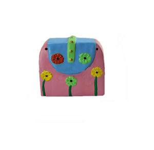 Hand Painted Ceramic Pink Handbag Child Money Box