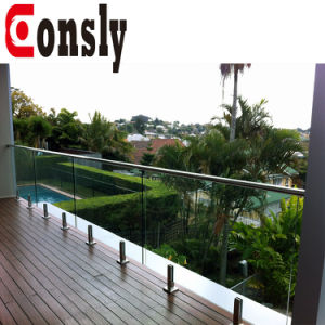 China Modern Balcony Stainless Steel Glass Railing Topless Glass