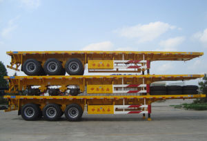 New Flatbed Trailer Container Carrier