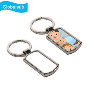 Rectangle Blank Sublimation Metal Keychains of Globalsub