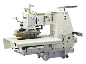 33-Needle Flat-Bed Double Chain Stitch Sewing Machine pictures & photos