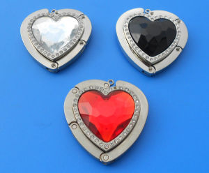 Heart Shape Crystal handbag Hanger with Diamond (ASNY-JL-BH-12111803) pictures & photos