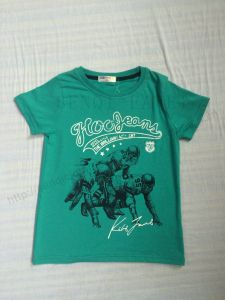 Water Printed Nice Boy T-Shirt in Children Clothing Sq-6282
