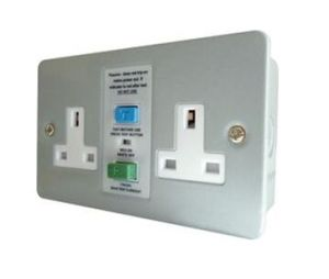 13 AMP Twin RCD Socket Metalclad