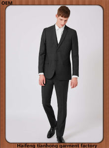 Charcoal Black Men Designer Gent Wedding Suit