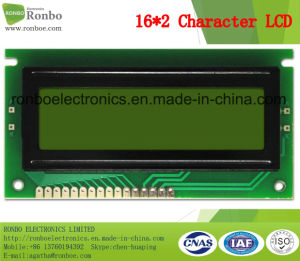 16X2 Stn Character LCM Display, MCU 8bit, Y-G Backlight, COB LCM Screen pictures & photos