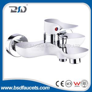 Classical Deck Mounted Single Lever Brass Paint&Chrome Bath Faucet