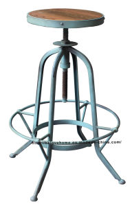 Industrial Metal Furniture Restaurant Vintage Blue Bar Stools pictures & photos