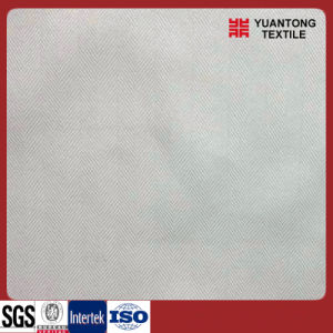 White Color Polyester/Cotton Herrningbone Fabric pictures & photos