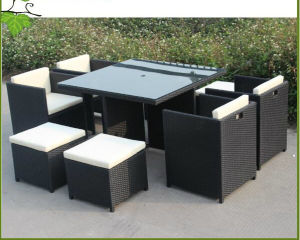 space saving patio furniture. Space Saving Rattan Outdoor Furniture Garden Wicker Dining Table And Chair (CF829) Patio W
