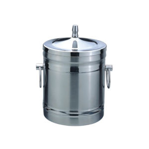 China 2L Hotel Stainless Steel Ice Bucket with Circular Handles pictures & photos