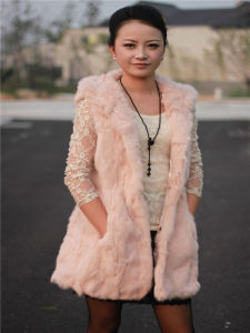 Women′s White Fur Vest Customization Is Accepted, Fashion