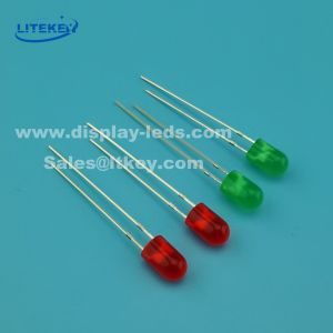 Flangeless 5mm Single Color Round LED with RoHS