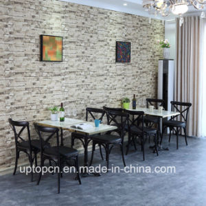 Modern Dining X Back Chair Wood and Table for Restaurant (SP-CT843) pictures & photos