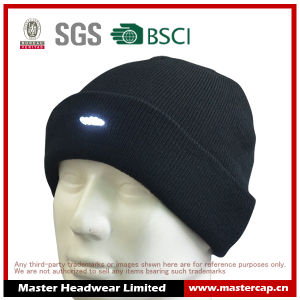 100% Acrylic Knitted Beanie with LED Light