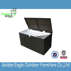 Outdoor Elegant Design PE Rattan Seat Storage Box