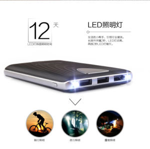 Portable Phone Charger, External Flashlight Mobile Powerbank and 3 USB/LCD Screen/LED Torch Portable Power Bank pictures & photos