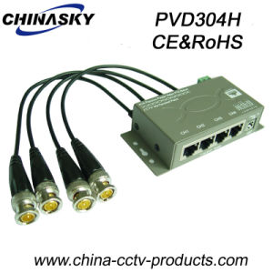 4CH HD CCTV Camera Power-Data or Audio Video Balun (PVD304H) pictures & photos