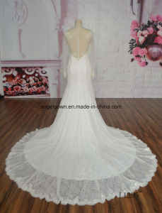 2016 Real Smaple 100% Spaghetti Strap Wedding Gown Mermaid Bridal Dress pictures & photos