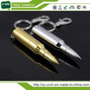 Metal Bullet Shape USB 2.0 Memory Stick Flash Drive 8GB Gold Color pictures & photos