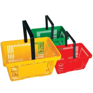 Cheap Plastic Shopping Basket on Sale pictures & photos