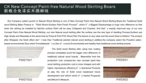 Ck New Concept Paint-Free Natural Skirting Board Wrapped PVC Wood Grain pictures & photos