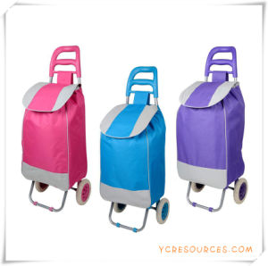 Two Wheels Shopping Trolley Bag for Promotional Gifts (HA82001) pictures & photos