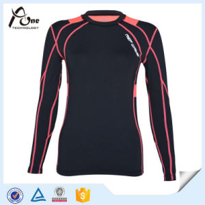 Women Tops Long Sleeve Shirts Sportswear with High Spandex