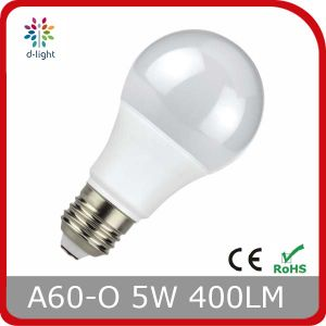A60o 5W 400lm LED Bulb with Ce RoHS 220V 230V