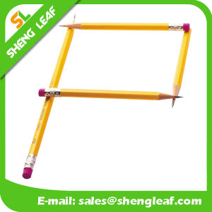 Debossed Logo Sharpened Hexagon Pencil with Rubber (SLF-WP010)