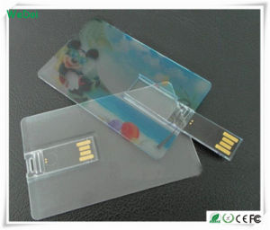 Transparent Credit Card USB Stick with Colorful Logo (WY-C11) pictures & photos