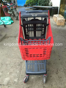 Factory Direct Wholesale Good Quality All Plastic Shopping Trolley pictures & photos