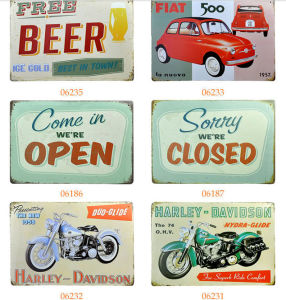 Vintage Wall Arts for Club/Restaurant, Beer Metal Tin Poster, Retro Beverage Tin Sign pictures & photos