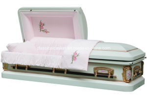 18 Ga Steel Primrose Casket for USA Market Funeral Casket pictures & photos