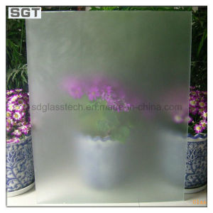 3mm-19mm Low Iron/Super Clear Acid Etched Glass with ISO/CCC pictures & photos