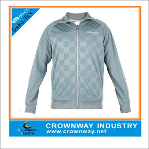 Men′s Long Sleeve Outdoor Sports Jacket with Ribbed Collar pictures & photos