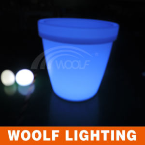 Hotel Furniture LED Lighted Plastic Flower Pots