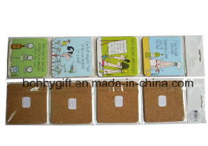 Customized Fashion Printed Square Beer Cork Coaster pictures & photos
