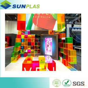 Tinted Color 2 30mm Acrylic Sheet Plexiglass Sheet For Partition Board In  Office And House