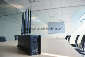 New Adjustable 6 Antennas Desktop Mobile Phone Signal Blocker 3G 4G Cell Phone Jammer pictures & photos