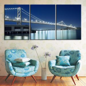 Multi-Panel Canvas Prints Wall Decoration Ideas, 5 Pieces Canvas Painting Cityscape